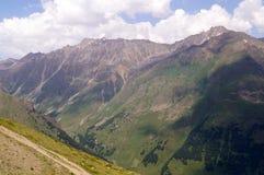 Het landschap van de berg op een zonnige dag Royalty-vrije Stock Foto
