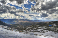 Het landschap van de Berg van de sneeuw Stock Afbeeldingen