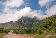 Het landschap van de berg van Dimerdzhi Stock Foto