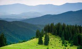 Het landschap van de Bergen van de zomer Royalty-vrije Stock Afbeeldingen