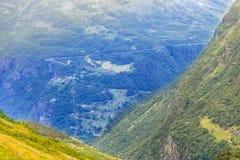 Het landschap van de bergenzomer in Noorwegen Royalty-vrije Stock Afbeeldingen