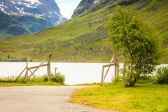Het landschap van de bergenzomer in Noorwegen Royalty-vrije Stock Foto