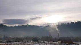 Het landschap van de bergmist timelapse stock videobeelden