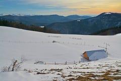 Het Landschap van de bergwinter Royalty-vrije Stock Foto
