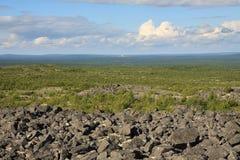 Het landschap van de bergzomer van polair gebied Royalty-vrije Stock Afbeeldingen