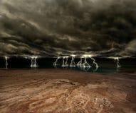 Het Landschap van de bliksem stock foto