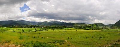 Het landschap van de Boerderij van de Shangri-La Stock Afbeeldingen