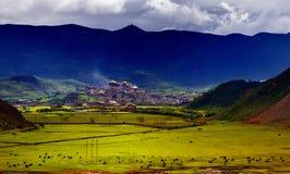 Het landschap van de Boerderij van de Shangri-La Stock Fotografie