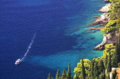 Het landschap van de boot royalty-vrije stock fotografie