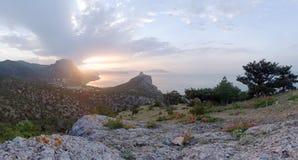 Het landschap van de dageraad stock afbeeldingen