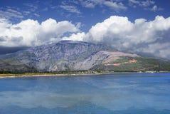 Het Landschap van de dam Stock Afbeeldingen