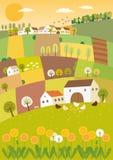 Het landschap van de de lentelandbouw Stock Foto