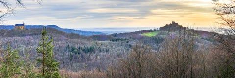 Het Landschap van de de lentezonsondergang Royalty-vrije Stock Afbeelding