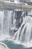 het landschap van de de winterwaterval Royalty-vrije Stock Fotografie