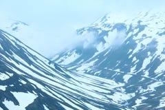 Het landschap van de de zomerberg (Oberalp-Pas, Zwitserland) royalty-vrije stock foto