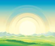 Het landschap van de de zomerdageraad royalty-vrije illustratie