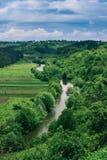 Het landschap van de Dnisterrivier Stock Foto's