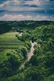 Het landschap van de Dnisterrivier Royalty-vrije Stock Afbeeldingen