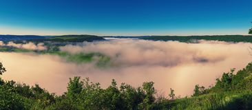 Het landschap van de Dnisterrivier Stock Foto