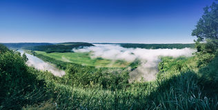 Het landschap van de Dnisterrivier Royalty-vrije Stock Fotografie