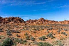 Het landschap van de doodsvallei Stock Foto