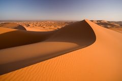Het Landschap van de Duinen van het zand Stock Afbeeldingen