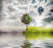 Het landschap van de ecologie royalty-vrije illustratie