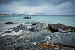 Het landschap van de Eilanden van Lofoten Stock Foto
