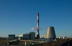 Het landschap van de elektrische centrale Stock Foto's