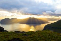 Het landschap van de Faeröer royalty-vrije stock fotografie