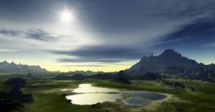 Het landschap van de fantasie Royalty-vrije Stock Afbeeldingen