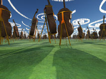 Het Landschap van de fantasie met Cello Royalty-vrije Stock Fotografie