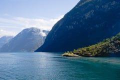 Het landschap van de fjord Stock Afbeelding