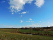 Het landschap van de gebiedsweg Royalty-vrije Stock Foto