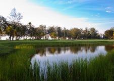 Het Landschap van de golfcursus Royalty-vrije Stock Afbeelding