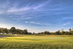 Het Landschap van de golfcursus Stock Afbeeldingen