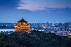 Het Landschap van de Hangzhoustad Stock Foto's