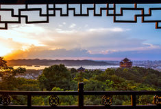Het Landschap van de Hangzhoustad Stock Afbeeldingen