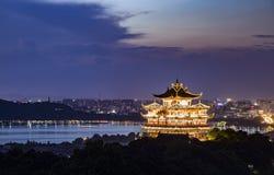 Het Landschap van de Hangzhoustad Royalty-vrije Stock Foto's