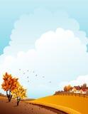 Het landschap van de herfst vector illustratie