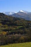 Het landschap van de herfst in de Italiaanse Alpen Stock Afbeeldingen