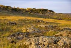 Het landschap van de de herfstrivier royalty-vrije stock afbeeldingen