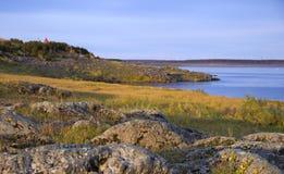 Het landschap van de de herfstrivier royalty-vrije stock fotografie