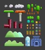 Het landschap van de het beeldverhaalaard van het niveaupak vector illustratie