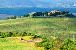 Het landschap van de heuvel in Toscanië   Royalty-vrije Stock Fotografie