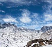 Het landschap van de Himalayanberg in het Nationale Park van Sagarmatha, Nepal stock afbeelding