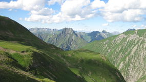 Het landschap van de Hoefatsberg in de Allgau-Alpen, Oberstdorf, Duitsland Stock Foto