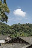 Het landschap van de huisberg Royalty-vrije Stock Foto's