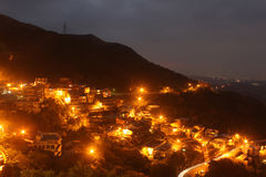 Het landschap van de Jiufennacht, Taiwan Stock Foto