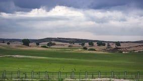 Het landschap van de K1518-trein die overgaan door royalty-vrije stock foto